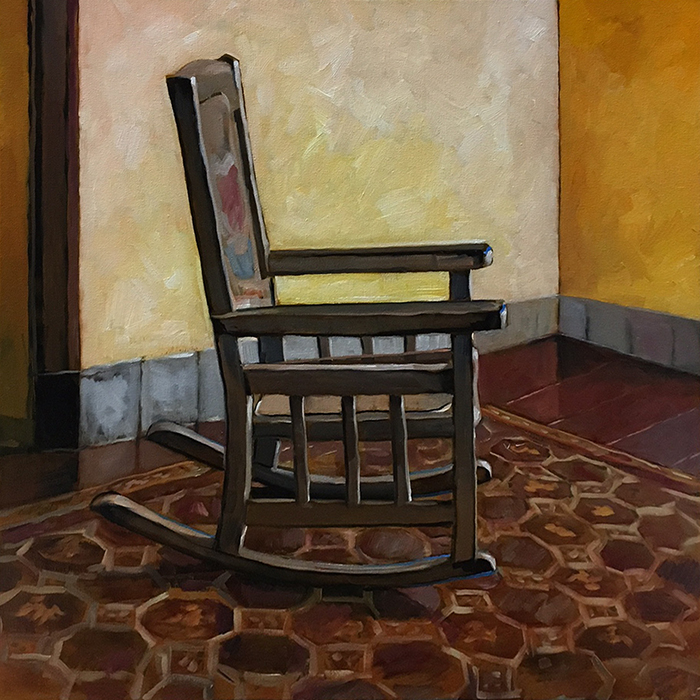 Rocking Chair (oil) 2'x2' $850