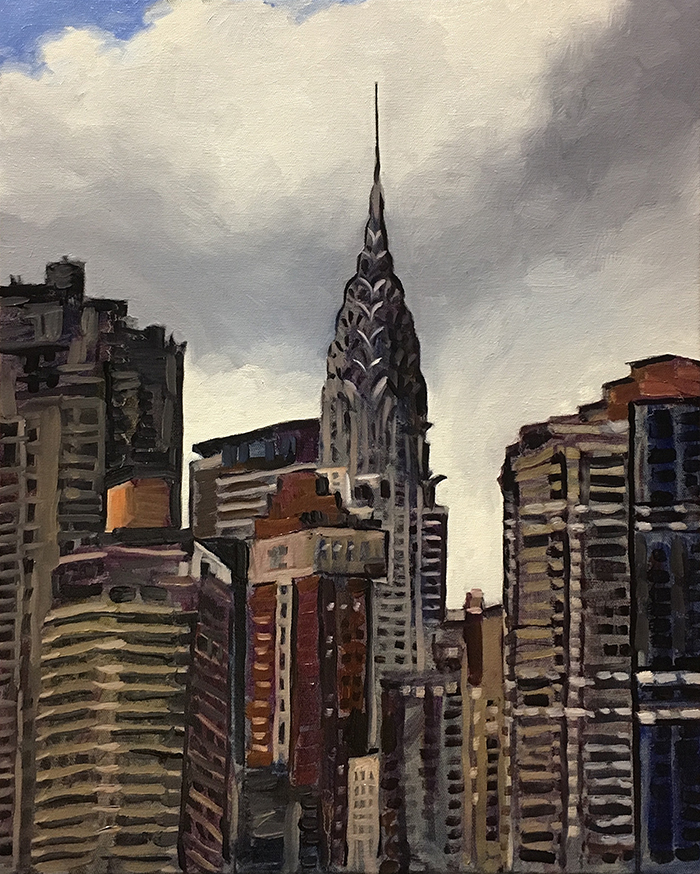 "The Chrysler Building (oil) 20""x16"" $650"