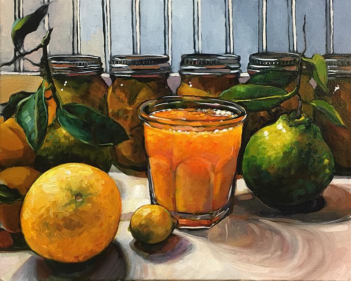 """Citrus (oil) 16"""" x 20"""" $650"""