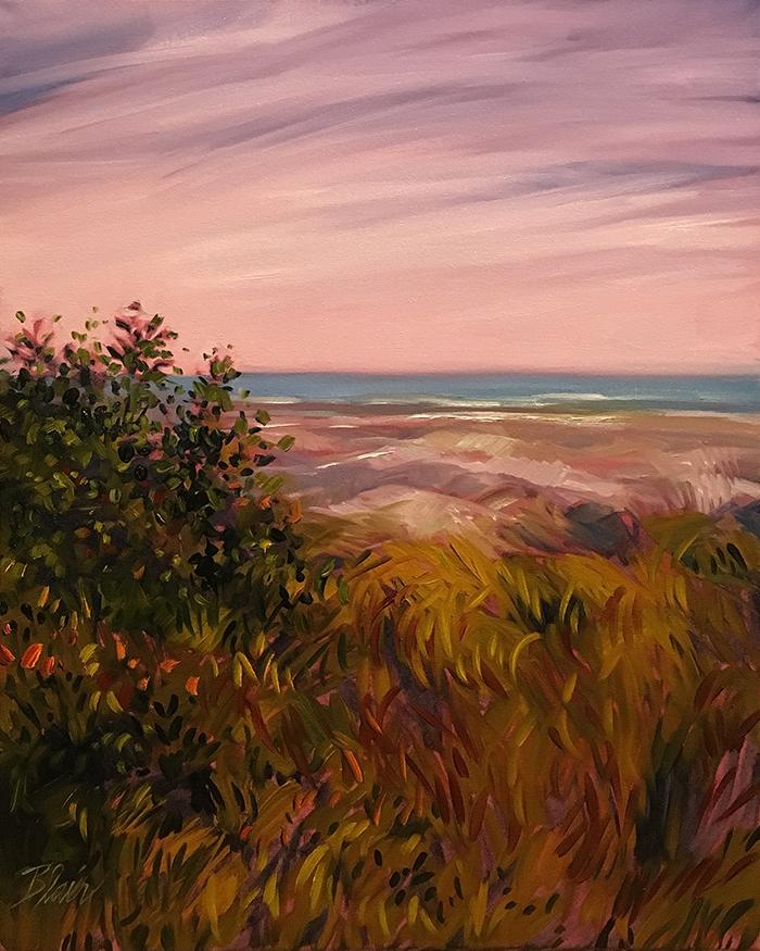 """Dunes at Crescent Beach (oil) 24""""x20"""" $800"""