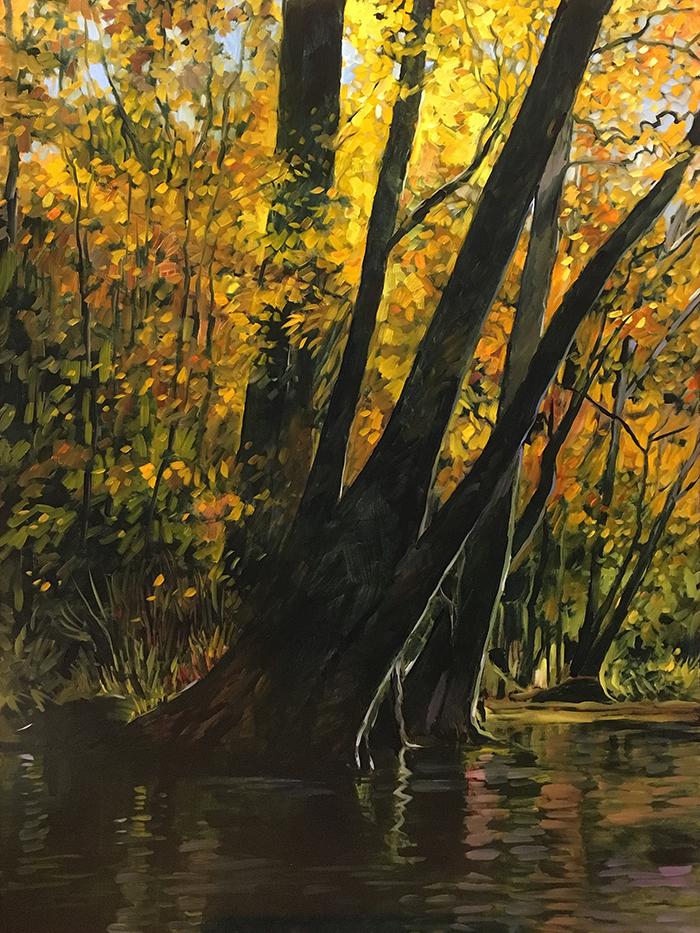 Ichetucknee River (oil) 4'x3' $2000