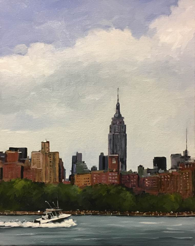 "New York City (oil) 20""x16"" $650"
