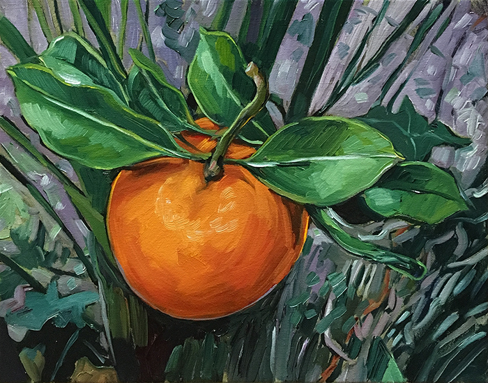 "Homegrown Orange (oil) 11""x14"" $350"
