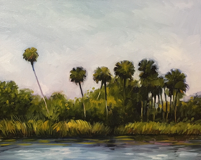 "Salt Creek Palms (oil) 16""x20"" $650"