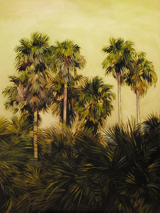 "Palm Trees (oil) 40"" x 30"" $1500"