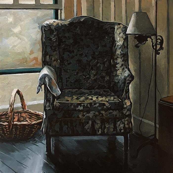 """Marjorie Kinnan Rawlings' Chair (oil) 24"""" x 24"""" $850"""