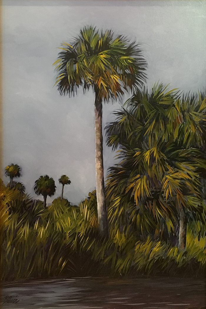 "Salt Creek Palm (oil) 36""x24"" $1200"