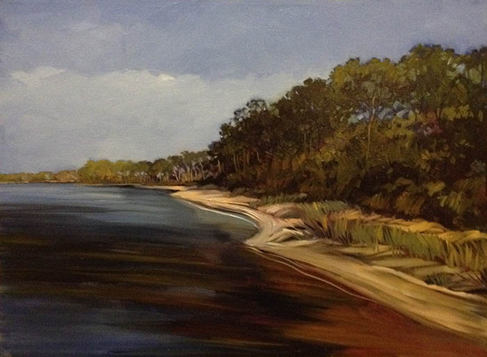 "St. Vincent Island (oil) 22"" x 30"" $950"