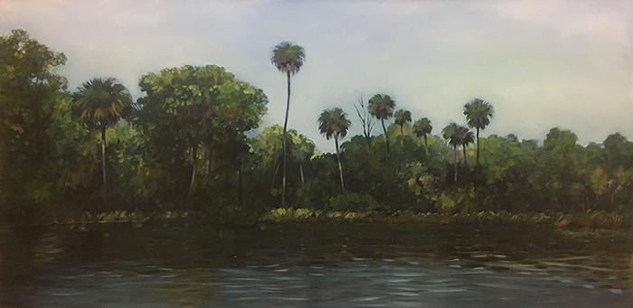 Suwannee River Palms (oil) 3'x6'  $3000