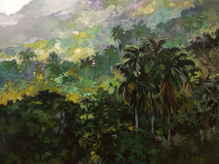 Topes de Collantes Sunrise (oil) 3'x4' $2000
