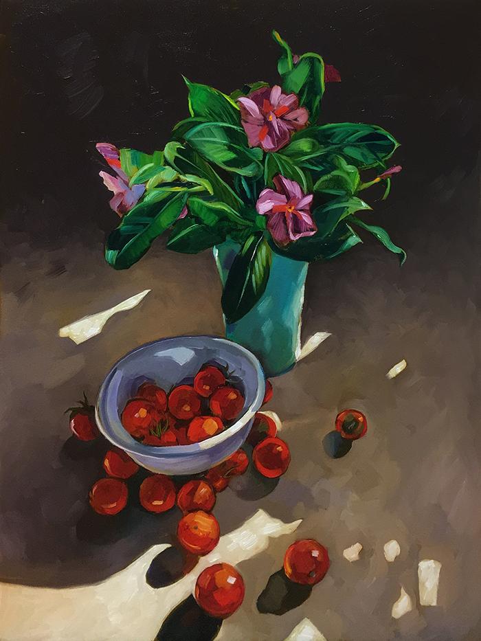 """Bowl & Vase (oil) 24""""X18"""" $750"""
