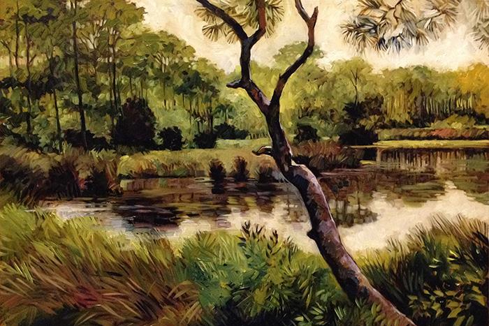 St. George Island Salt Marsh  (oil)  2'x3'  $1200