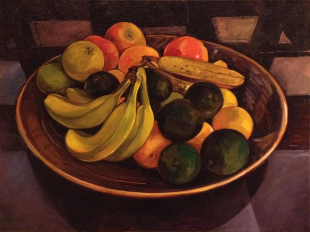 """Fruit and Avocados (oil) 18"""" x 24"""" $750"""