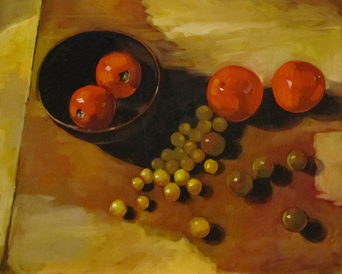 "Tomatoes From the Garden (oil) 16"" x 20"" $650"